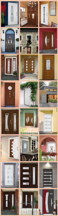 Vchodové dvere MODERNA - galéria